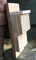 Handmade wooden rustic Kent Bat Box house pipistrelle - rough untreated timber