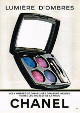 PUBLICITE ADVERTISING 064  1982  CHANEL  cosmétiques    LUMIERE  D'OMBRES