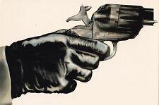 """THE GUN"" BY MICHAEL SHRUBSALL ART POSTCARD 1981 KARLSBAD SWEDEN UNUSED"