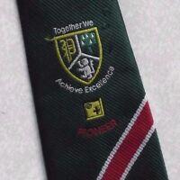 Vintage Tie Mens Necktie SHIELD CRESTED Club Association Society PIONEER