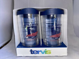 TERVIS 16 OZ THE ORIGINAL CLEAR TUMBLERS 2 Pack With Lids Us Open Pebble Beach