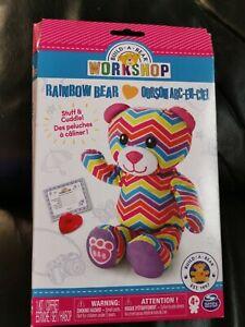 BNIB Build a Bear Workshop Stuffin Stuffing Station Refill Rainbow Teddy Bear