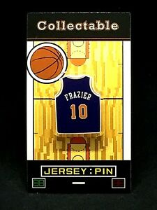 New York Knicks Walt Frazier jersey lapel pin-Classic HARDWOOD Collectable-CLYDE