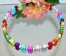 Kette Würfelkette cube Halskette Miracleperlen schimmernd   Multicolor bunt 377a