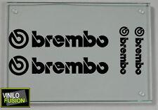4 pegatinas de vinilo BREMBO para COCHE ,no 356