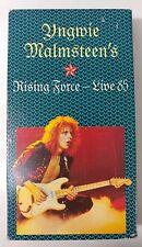 Video VHS - YNGWIE MALMSTEEN - Rising Force Live 1985 Very Good (VG) WORLDWIDE
