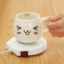 220V White Electric Powered Cup Warmer Heater Pad Coffee Tea Milk Mug 1 Pcs
