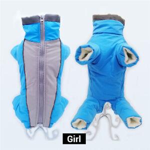 Pet Dog Clothes Hoodie Winter Fleece Jacket Jumpsuit Coat Snowsuit Waterproof