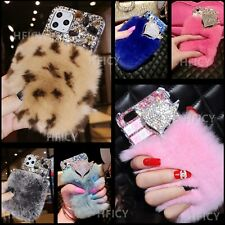 For ZTE Blade A3 A5 A7 Vantage 2 Plush Bunny Fluffy Real Rabbit Fur Phone Cases