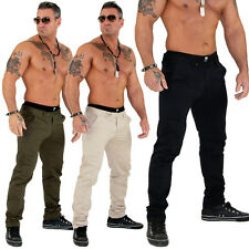 JUSTING Hombre Pantalones Vaqueros De Chino Ajustado Talla Tallas YDX 33