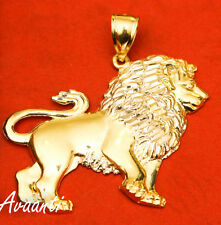 Real 10k Gold FULL BODY LION Pendant Charm Piece Diamond Cut Design