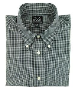 NWOT Jos A Bank Executive 100% Cotton LS Button Down Black Tan Men's Shirt Med