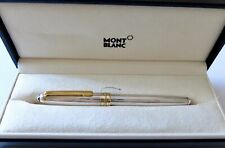 Montblanc 144SP Sterling Solitaire Line Pattern Fountain Pen - 18kt Nib - w box