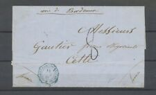 1861 Lettre CONFEDERATION/ARGENTINE, càd octogonal bleu, SUP X4896