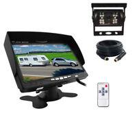 """12-24V Car Reversing Camera Kit 7"""" Sunshade Monitor + 4pin CCD IR Backup Camera"""