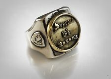 Brass & Sterling Silver 925 Ring Support 16's Forever Biker Outlaw Pagan's Mc