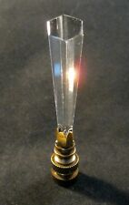 Lamp Finial-TAPERED SPEAR-Crystal Lamp Finial-Antique Brass Base