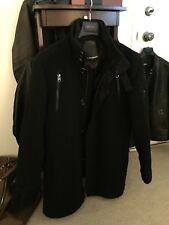 Must Have ProjekRaw Black Jacket Peacoat, M/L, All Saints, Great Details, Fit