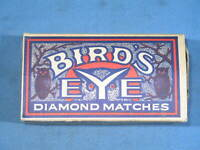Vintage BIRD'S EYE Diamond Matches Advertising Box w/Owl Graphics #2 Made in USA