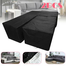2Pcs Waterproof Sofa Sectional L Shape Cover + Table Furniture Outdoor Slipcover