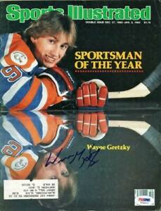 Oilers Wayne Gretzky Authentic Signed Sports Illustrated 1982 PSA/DNA #T04615