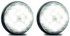 TRAILER REVERSE RECESSED X 2 LAMPS CHROME FLANGE & PLUGS 5525 S  LED AUTOLAMPS