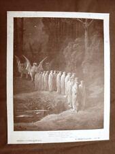 Incisione di Gustave Dorè 1890 24 seniori e 4 animali Divina Commedia Purgatorio