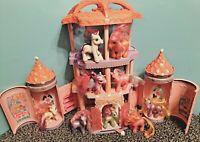 2005 My Little Pony Castle Crystal Rainbow Pink Palace House Playset G3 Lot