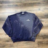 VINTAGE Distressed Bleach Dyed Crew Neck Sweater JERZEES Super Sweat Men XL USA