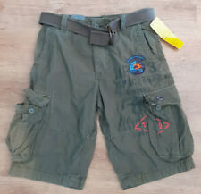 H&M cargo/combat army shorts. Belted Patches, Loose Fit. khaki green. Sz 31 New