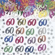 60 ans multicolore Confetti de table