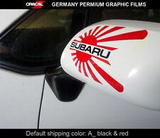Pair of JDM LOGO SUBARU STI IMPREZA WRX Car mirror Decal vinyl Sticker