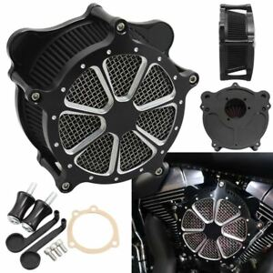 Contrast Cut Venturi Air Cleaner Intake Filter System For Harley Dyna 1993-2007