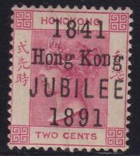 HONG KONG 1891 2c carmine,jubilee opt-mint hinged