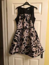 Coast Cocktail Dress (black & champagne) Size 12