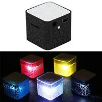 Mini Portable Led Light Speaker Bluetooth Wireless TF Stereo MP3 Bass Music XBUK