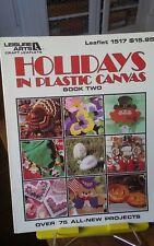 Vtg plastic canvas needlework charts Leisure Arts Holidays 75 projects