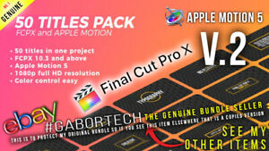 Final Cut Pro X - V2 + 50 Minimal Titles FCPX or Apple Motion