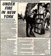 6/6/81PGN3 THE CLASH, UNDER FIRE IN NEW YORK ARTICLE & PICTURE