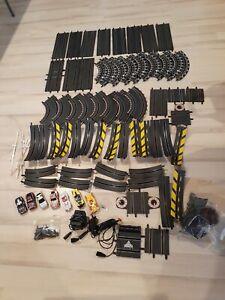 CARRERA Slot Cars  x 7 and 58pc Tracks - Hand Controls & Power Bulk Lot -