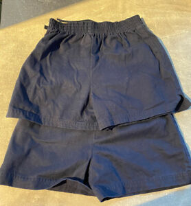 Marks & Spencers 2 Pack Navy cotton Sports Shorts Age 4-5years