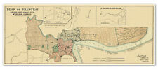 "Waterlow & Sons Big Chinese MAP Plan of SHANGHAI China Asia circa 1918 - 24""x60"""