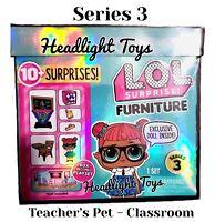 1 LOL Surprise Series 3 Teacher's Pet Doll Classroom Furniture Play Set In Hand