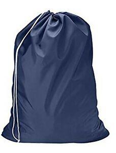 Heavy Duty Extra Large Nylon Laundry Bag Locking Drawstring Closure 30x40.