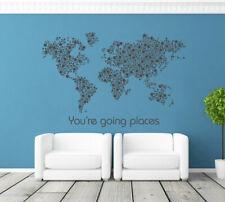 ik1343 Wall Decal Sticker world map Bedroom Living Room