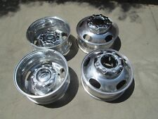 "17"" FORD F350 DUALLY DUALLIE DRW OEM FACTORY ALUMINUM WHEELS RIMS WITH CAPS A"