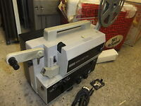 Cine film projector EUMIG S-802D SOUND super 8 & standard 8mm + POLY box