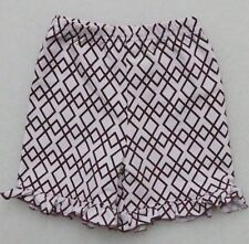 Ishtex Tara Collection Lot of 23 Pair Girl'S Ruffled Shorts Maroon White
