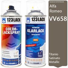 Autolack Lackspray Set Alfa Romeo VV658B TITANOSATINATO Metallic + Klarlack