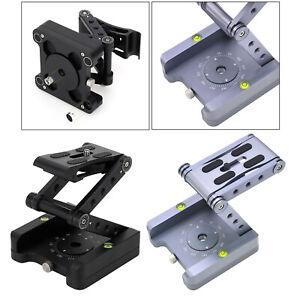 Aluminum Alloy Folding Camera Bracket Tripod Pan Head for DSLR 1/4-3/8 Screw